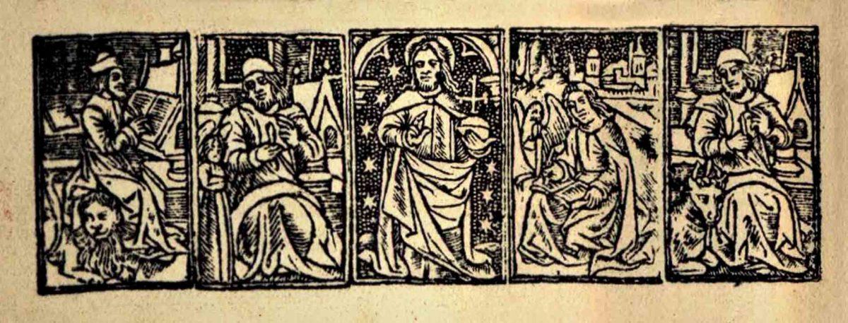 Illustrasjon fra gammel bok