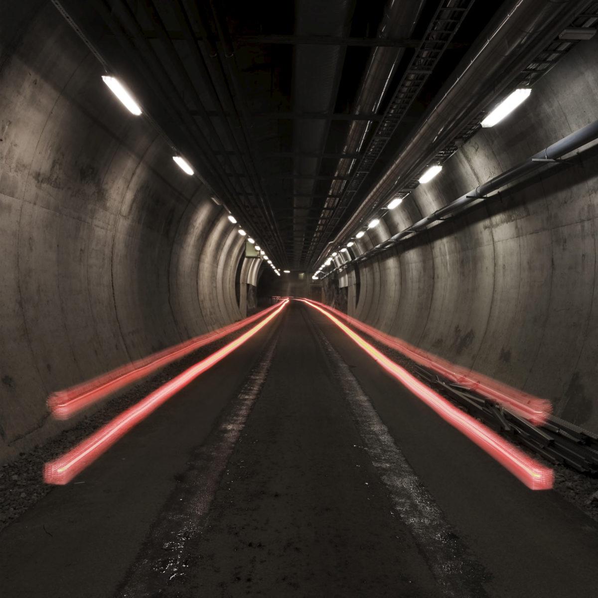 Bilde fra tunnel Nasjonalbiblioteket i Rana