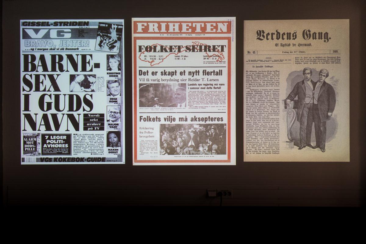 Bilde av avisforsider