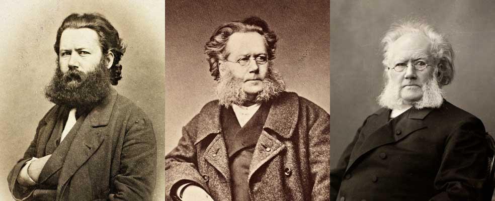 Tre bilder av Ibsen