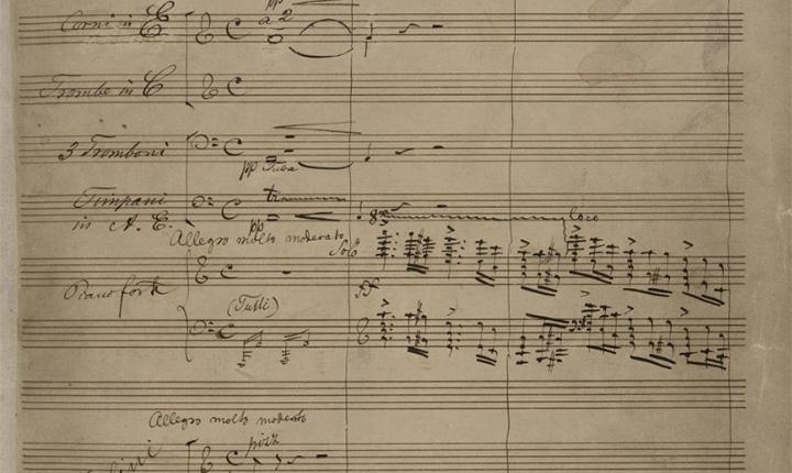 Bilde av håndskrevne noter