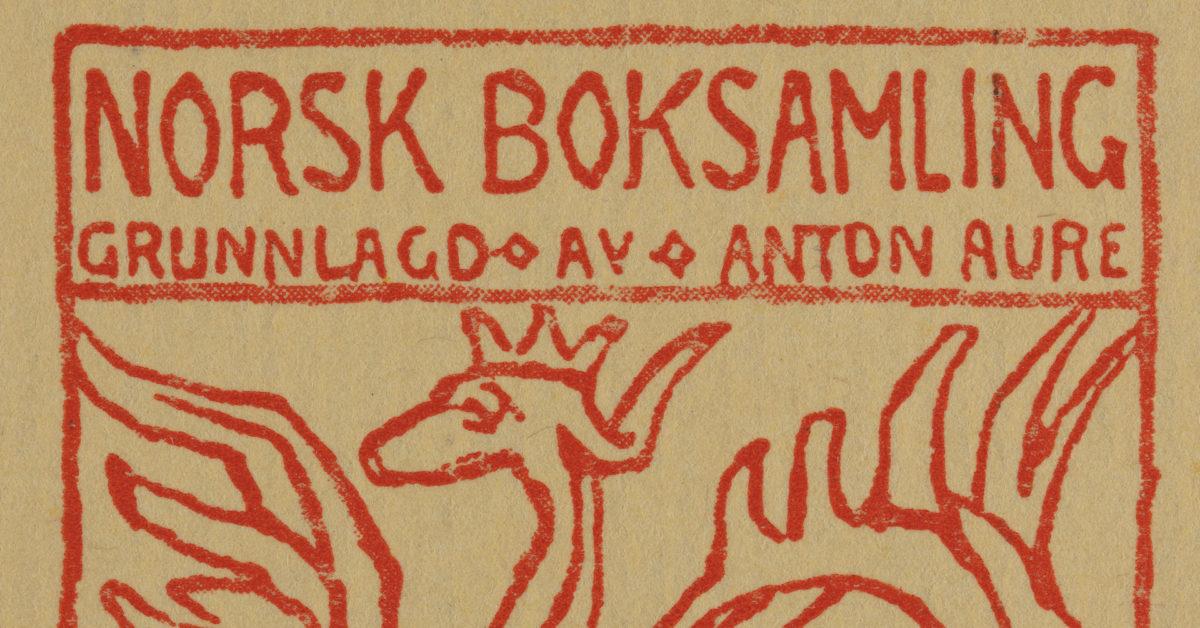 Nynorsk bokhistorie.Ellen E. Nicolaysen om «Norsk boksamling, grunnlagd av Anton Aure»