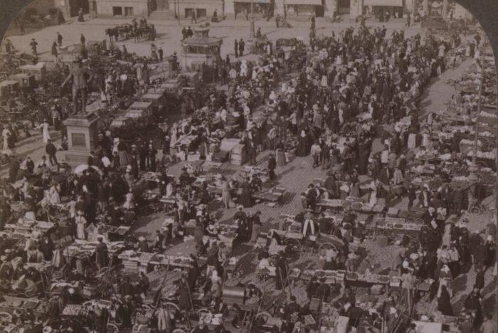 Marked, Christiania, sort-hvitt.