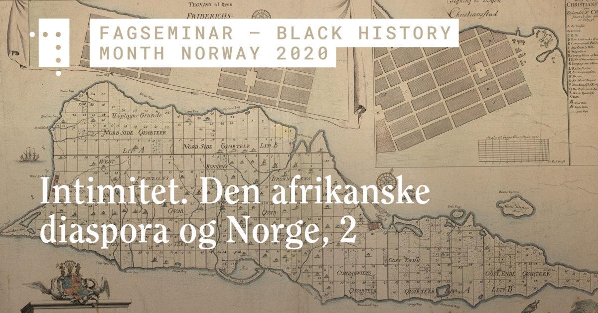 Intimitet. Den afrikanske diaspora og Norge, 2