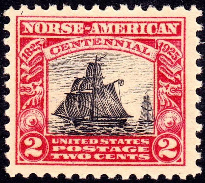 Frimerke, bilde av skip