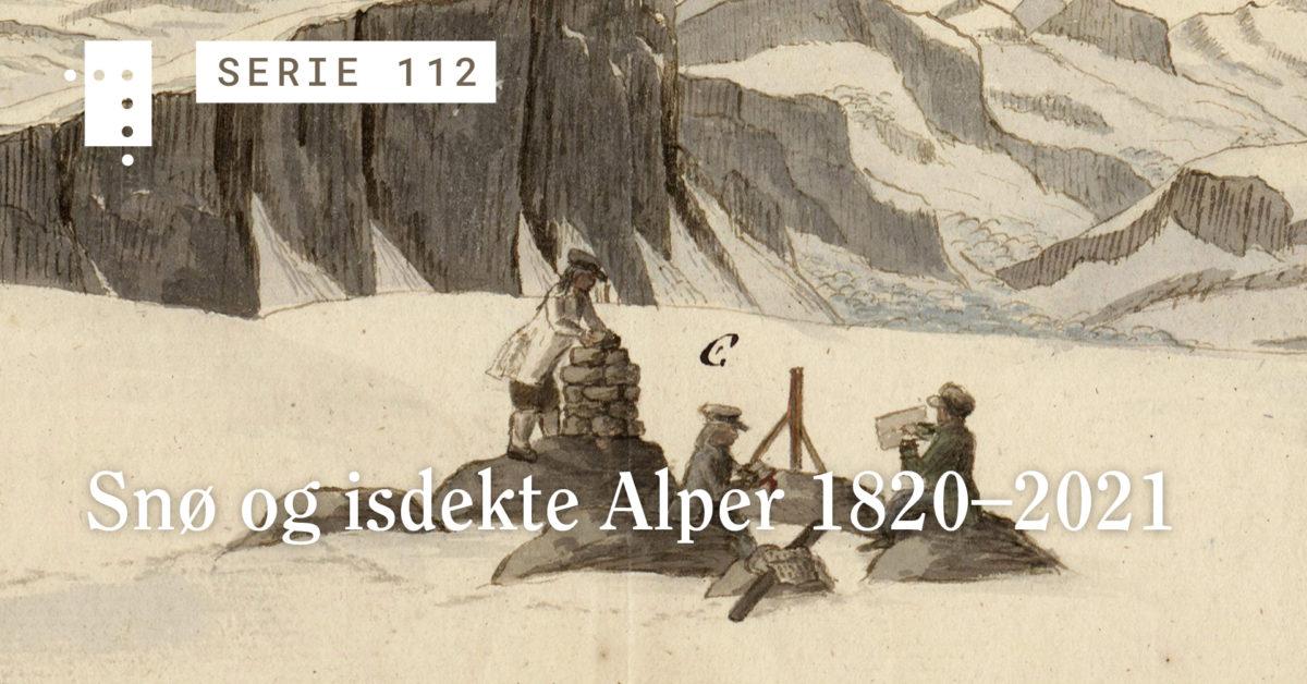 Snø og isdekte Alper 1820–2021