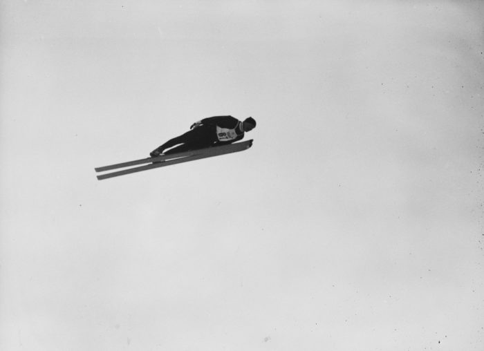 Skihopper i lufta