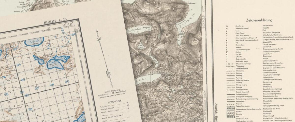 Kartutsnitt britisk og tysk kart