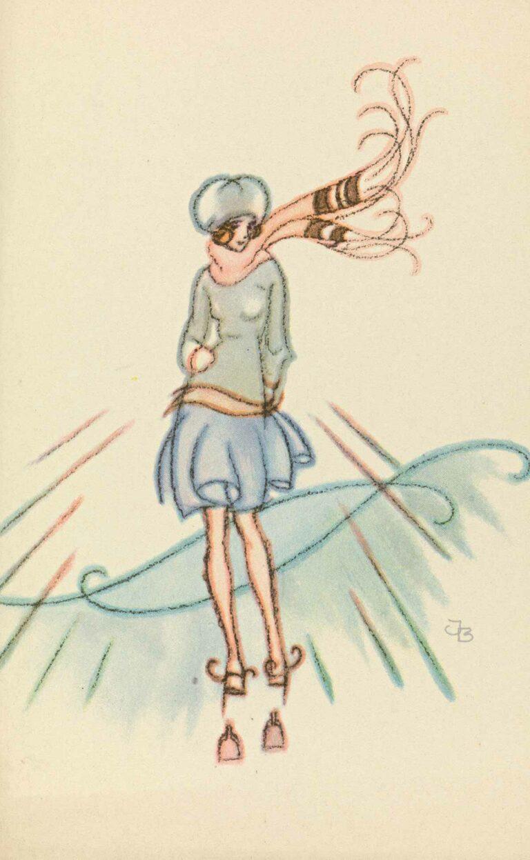 Skøyteløper (postkort)