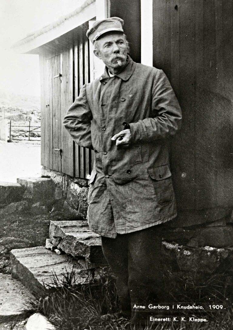 Arne Garborg, 1909 (postkort)