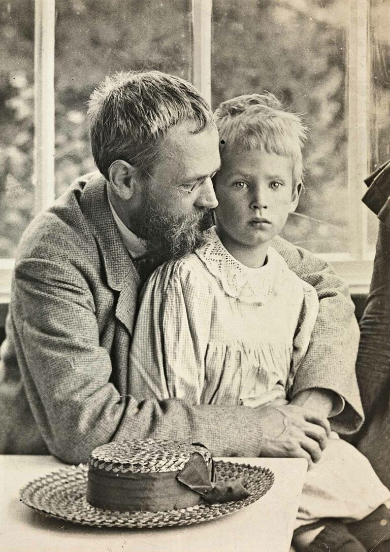 Erik og Dagfin Werenskiold, ca. 1900