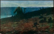 «Askeladden og trollet (på flya)» (Soria Moria), malt 1910