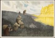 «På vei til Trollslottet», malt 1904