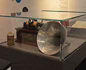 oversiktsbilde fra utstillingen - fonograf med voksrull